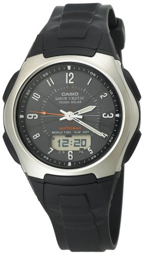 Casio Men's WVA430J-1 Waveceptor Solar Atomic Ana-Digi Sport Watch