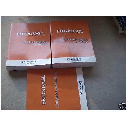 2008 Hyundai Entourage Electrical Service Shop Manual Book