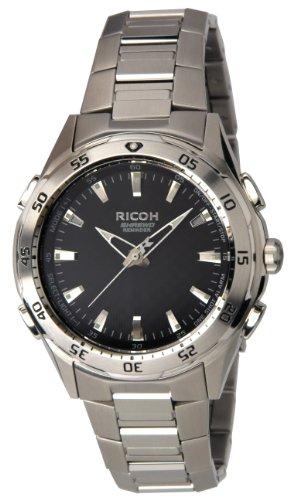 Ricoh Men'S Watch Shrewd Reminder Inductive Charge Analogue Vibration Alarm Chronograph Led Black 660002-01