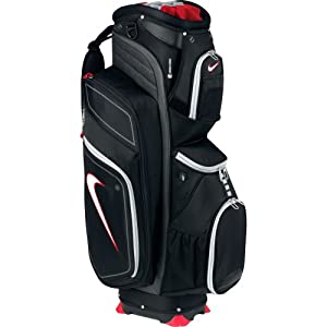 Nike Golf M9 II Cart Golf Bag, Black/White/Metallic Silver