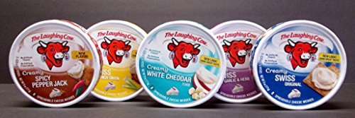 The Laughing Cow 5 Count Variety Pack - Original Swiss, Swiss Garlic & Herb, Spicy Pepper Jack, Swiss French Onion, & White Cheddar (Cheese Garlic compare prices)