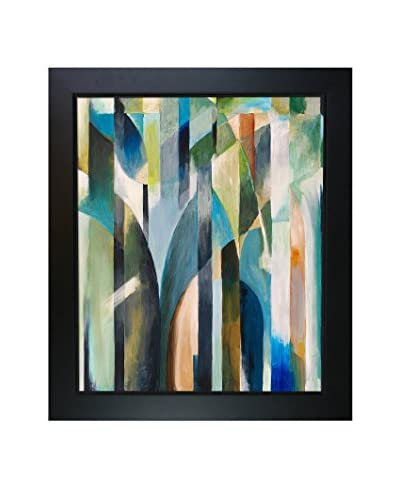 Clive Watts Blue Curve Framed Print On Canvas, Multi, 28.75″ x 24.75″