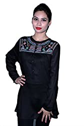 Cherry Clothing Women's Top (CRT1026 M_Black_Medium)