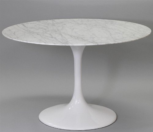 Buy Low Price Lexington Modern 48″ Eero Saarinen Tulip Dining Table White Marble Top in White (B003VPU0WY)