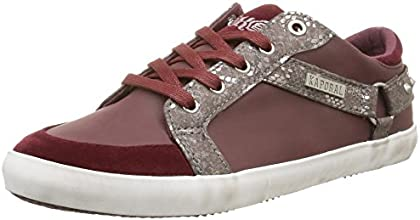 Kaporal Snooz, Sneakers Basses femme, Rouge (Bordeaux), 37 EU