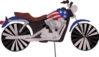 32 in. Motorcycle Patriotic Spinner by Premier Kites