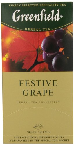 Greenfield Tea, Festive Grape, 25 Count (Grape Tea compare prices)