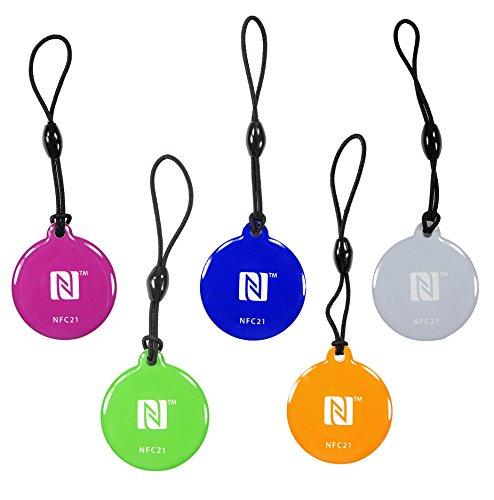 5 NFC portachiavi   NFC key style  512 byte   5 colori   compatibile con tutti i smartphones con funzione NFC