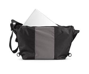 Timbuk2 D-Lux Laptop Messenger Bag (Black/Gunmetal, Small)