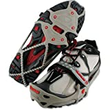 Yaktrax Run Traction Cleats for Snow and Ice, Gray/Red, X-Large