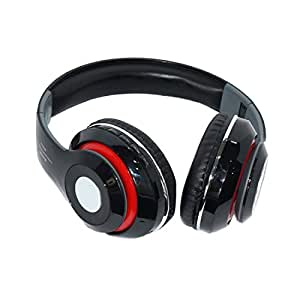 Muren 4 in 1 Black Headphones (With Bluetooth/Aux/FM/SD Card/Microphone for calling)