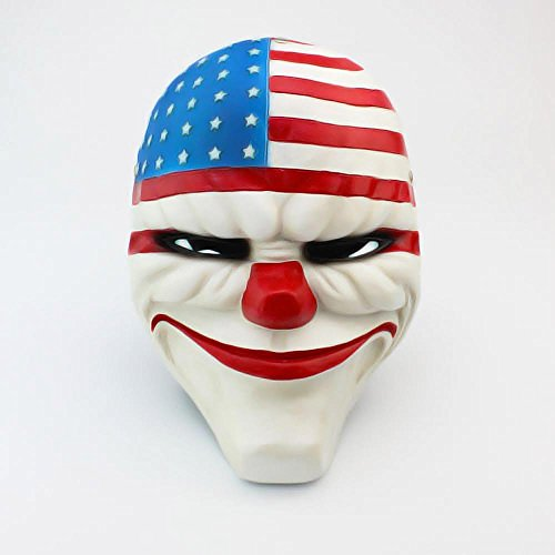 New Resin Mask Halloween Heist Joker Costume Payday 2 Prop Gift Board for Dallas
