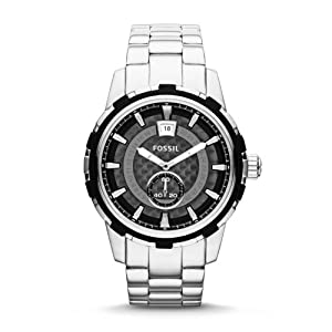 Fossil Men's FS4891 Dean Analog Display Analog Quartz Silver Watch