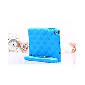 Evecase iKiz Multi Function Child/Shock Proof Kids Cover Case with Stand/Handle for Apple iPad Mini Tablet - Blue