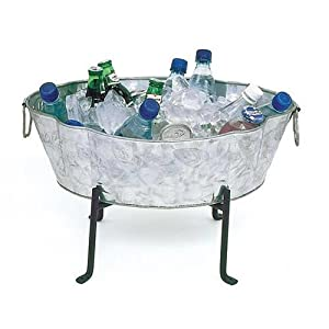 Achla Designs C-52 Embossed Galvanized Tub