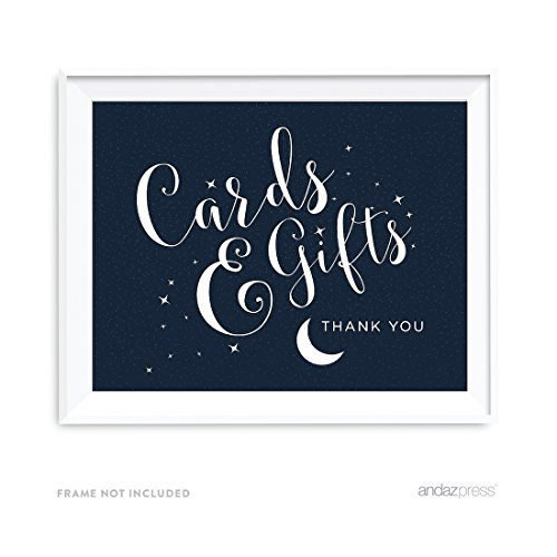 Andaz Press Love You to the Moon and Back Wedding Collection, Party Signs, Cards and Gifts Thank You, 8.5x11-inch, 1-Pack, Space Galaxy Themed Baby Shower Party