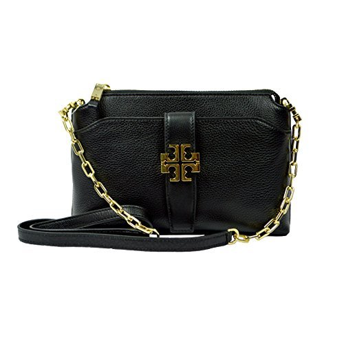 Tory Burch Meyer Crossbody Womens Black Travel Leather Messenger Black