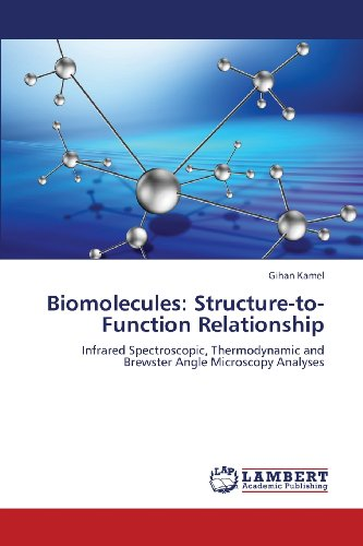 Biomolecules: Structure-To-Function Relationship: Infrared Spectroscopic, Thermodynamic And Brewster Angle Microscopy Analyses