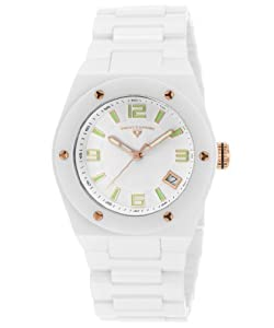 Swiss Legend Women's 10054-WWTRA Throttle Analog Display Swiss Quartz White Watch