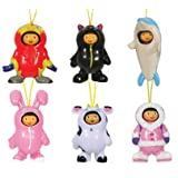 Dora The Explorer Costume Changer Figure Charms -- Set Of 6 Vending Machine Toys