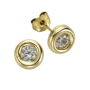 Fascination by Ellen K. - F216320014 - Boucles d'Oreilles Femme - Or jaune 333/1000 (8 carats) - Oxyde de Zirconium