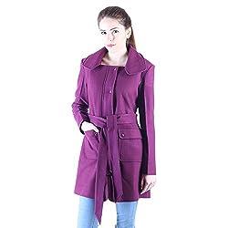 Owncraft magenta wool coat for women
