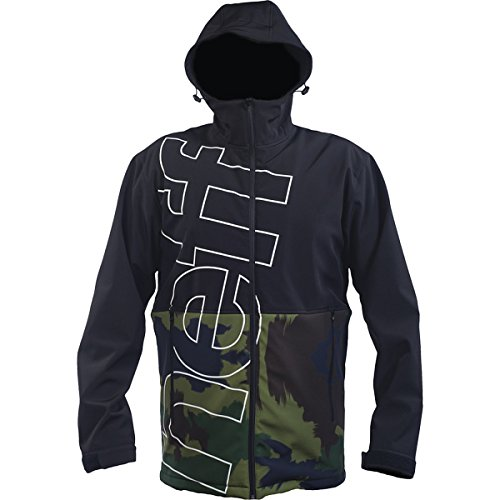 neff Men's Daily Shoftshell Jacket, Black/Camo, X-Large