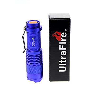 UltraFire? 7W 300LM Mini XPE Q5 Zoomable LED Flashlight Adjustable Focus Portable LED Light Lamp Flashlight Torch