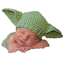 Little Kiddo Newborn Baby Crochet Costume Photography Props Cartoon Knitting Hat Bow Infant Photo Props Outfits Suit