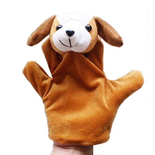 Tonsee® Zoo Bébé Enfant Animal Farm main Marionnette doigt Sack Peluche Marionnette à main
