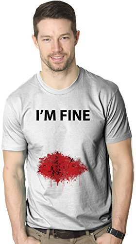 I'm Fine Bloody T Shirt Funny Graphic Bleeding Wound Tee M