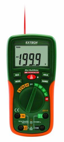 Extech Ex210 Mini Digital Multimeters/Ir Thermometer Combination