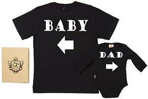 Spoilt Rotten - Baby & Dad Arrow - 100% Bio-algodón - Papá y bebé caja de regalo Set