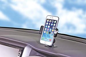 ナポレックス 車用スマホホルダー ディズニー・カーグッズ スマートフォンホルダー3D<ミッキー> スワロフスキー®・クリスタル使用 抗菌部材使用 汎用 WD-311