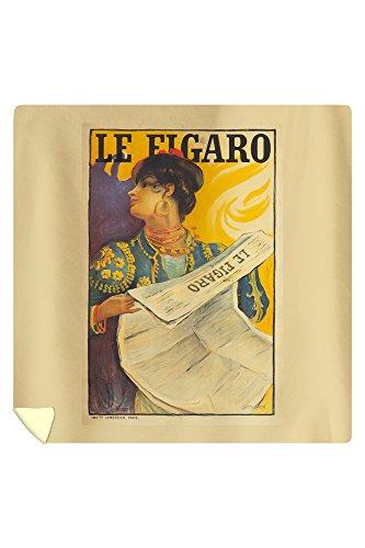 le-figaro-vintage-poster-artist-simonidy-france-c-1900-88x88-queen-microfiber-duvet-cover