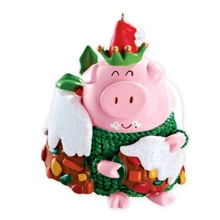 Carlton Heirloom Ornament 2013 Christmas Joy – Jolly Pig – #CXOR031D