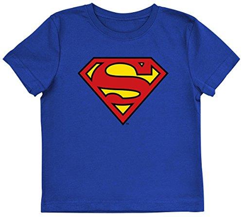 Superman Logo Maglia bimbo/a blu 110/116