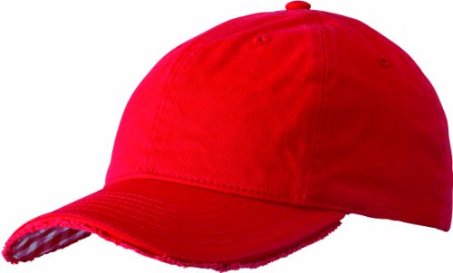 Myrtle Beach, Cappello Club Vichy-Checked, Rosso (red/white), Taglia unica