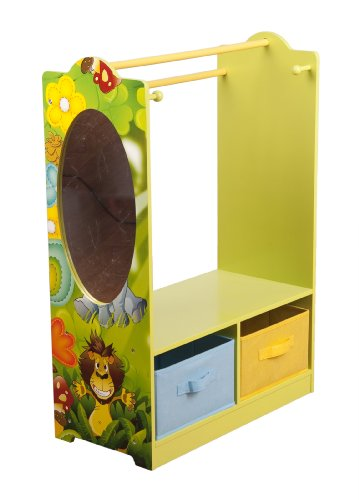 4Gr8 Kidz Jungle Series Kids Wooden Dress Up Organizer w/Mirror