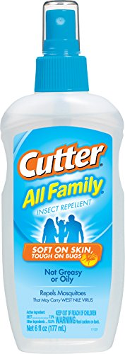 Cutter 51070 All Family 6-Ounce Insect Repellent Pump Spray, Case Pack of 1