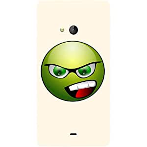 Casotec Angry Smiley Design Hard Back Case Cover for Microsoft Lumia 540