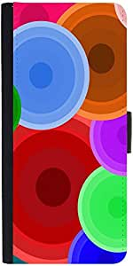 Snoogg Digi Bubbles 2387 Graphic Snap On Hard Back Leather + Pc Flip Cover Sa...