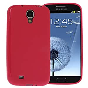 Pure Color Protection TPU Case for Samsung Galaxy S4 i9500 in Magenta