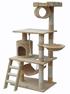 Go Pet Club Cat Tree Condo, 38-Inches x 27-Inches x 62-Inches