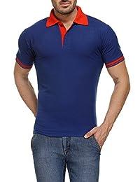 TSX Men's Cotton Blended Printed Polo T-Shirt