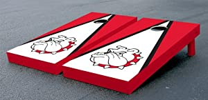 Bulldog Themed Cornhole Bean Bag Game Set by Victory Tailgate