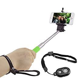 Selfie Stick with Bluetooth Remote for Smartphones - With Universal Phone Holder up to 3.25 Inch in Width - Adjustable Handheld Monopod 11\