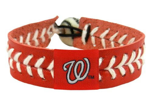 MLB Washington Nationals Team Color Baseball Bracelet