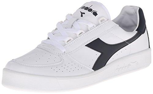 Diadora Men's B Elite L III Court Shoe, White/Navy, 10 M US