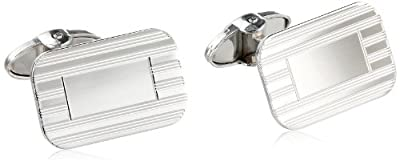 Dolan Bullock Sterling Silver Rectangular Engraved Pattern Cuff Links